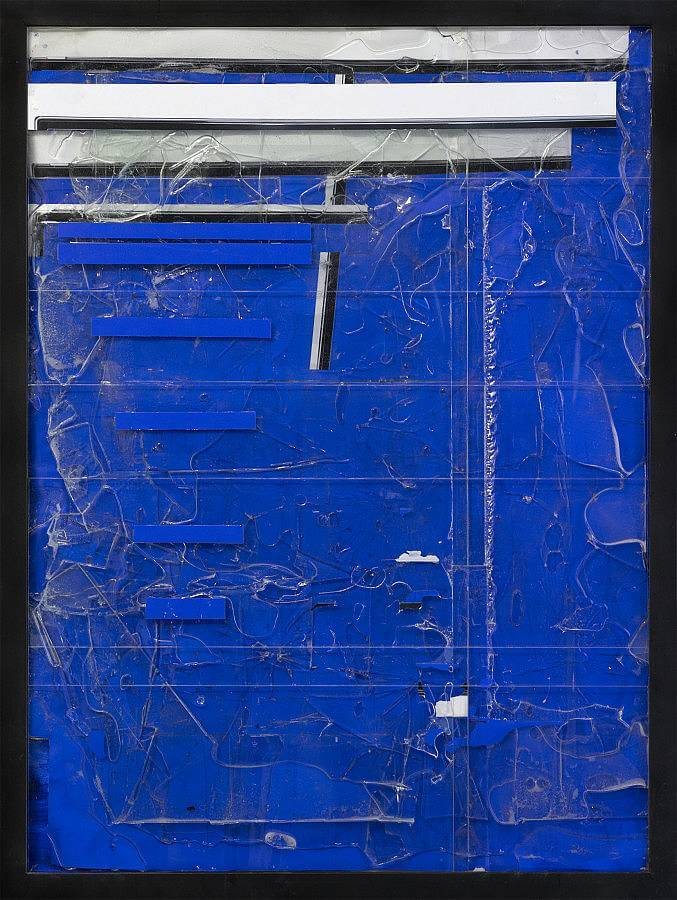 Steel/Glass 33 (Blue Screen) 2015 - 36 x 48 inches