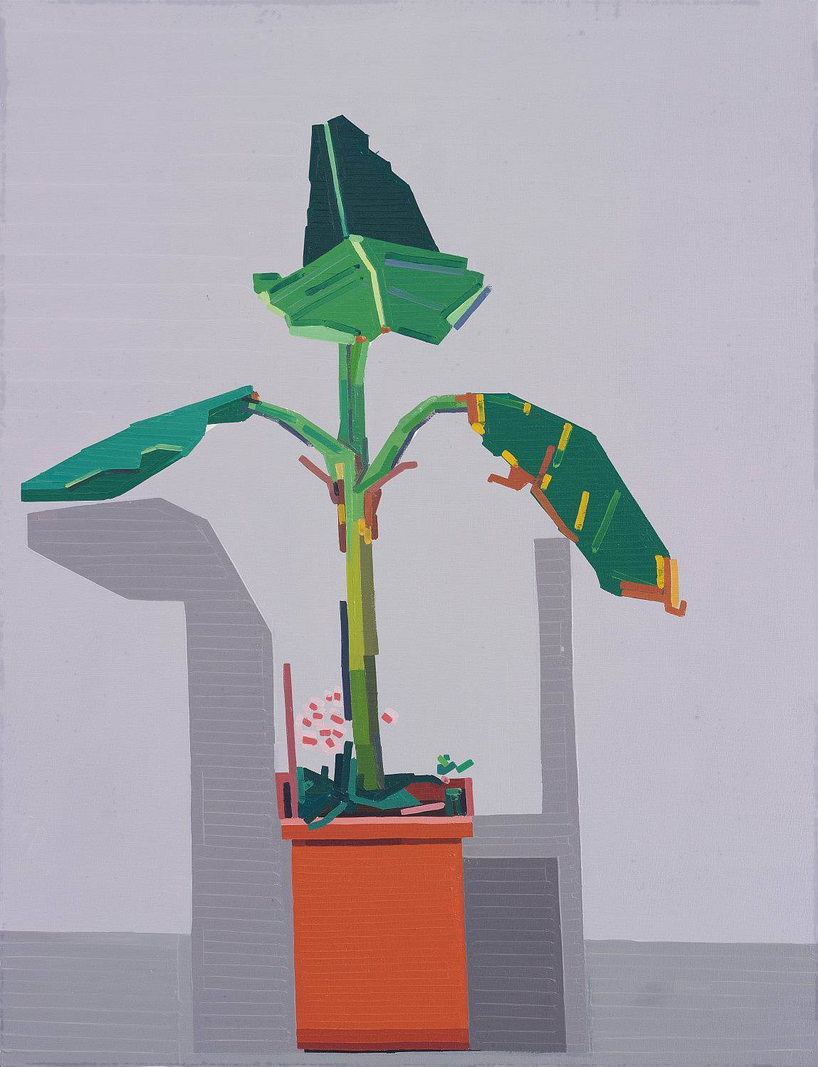 End of Europe (Plant in Corner), 2015, oil on linen, 130x100 cm