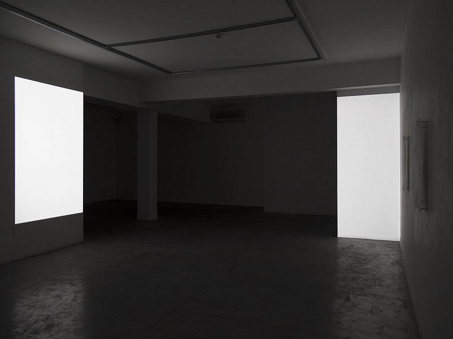 Installation no.26, 2015 video installation, 13 min two channel video projection, six embossed prints on paper