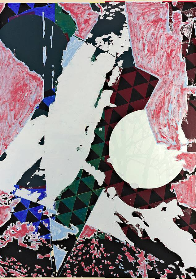 "Jered Sprecher, Blue Sky Ever Green, oil on linen, 84"" x 60"", 2015"