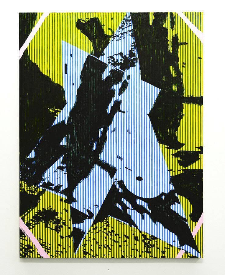 "Jered Sprecher, Present Past Future, oil on canvas, 48"" x 36"", 2015"