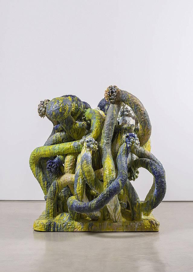 """Flower tree, ceramic, 77""""x74""""x69"""", 2015"""