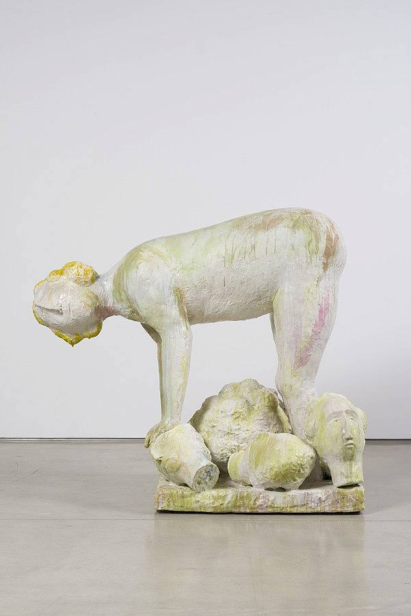 "Figure with heads, ceramic, 59""x68""x37"", 2015"