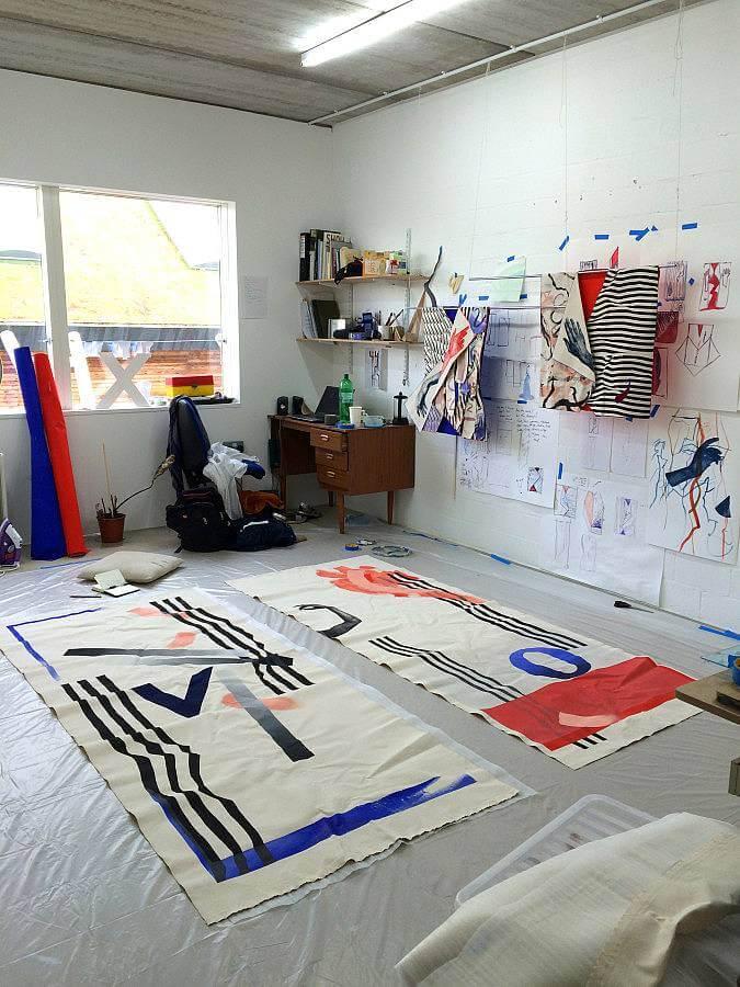 Image of my studio in Purfleet, Essex, 2016