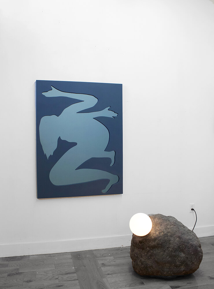 Girl (Blue) / Rock Lamp