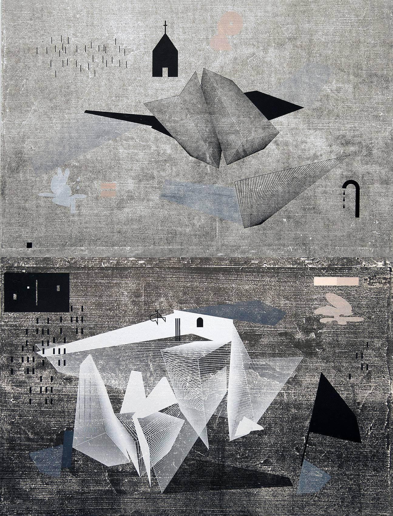 Stillwater Split (Diptych), 2015