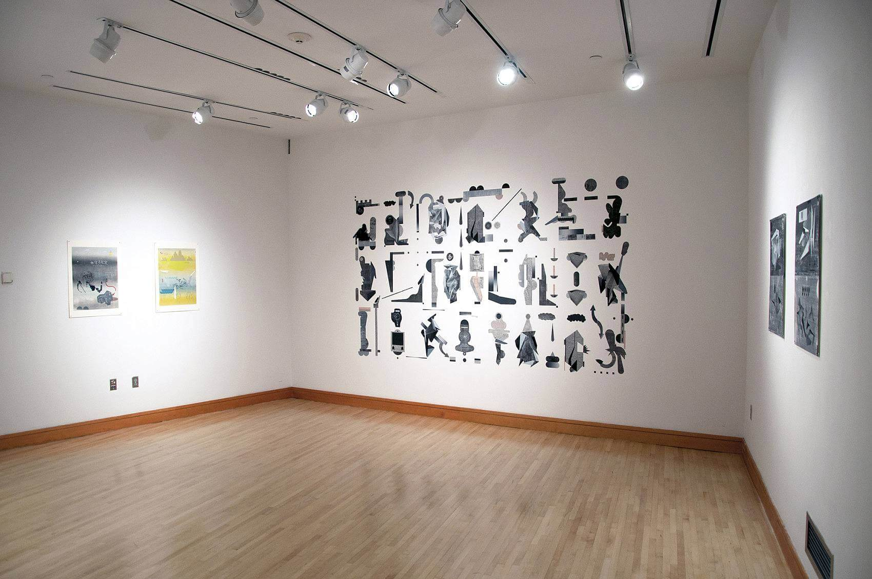 Exhibition View, Just A Simulation, Edith Smith Gallery, Grinnell College 2015