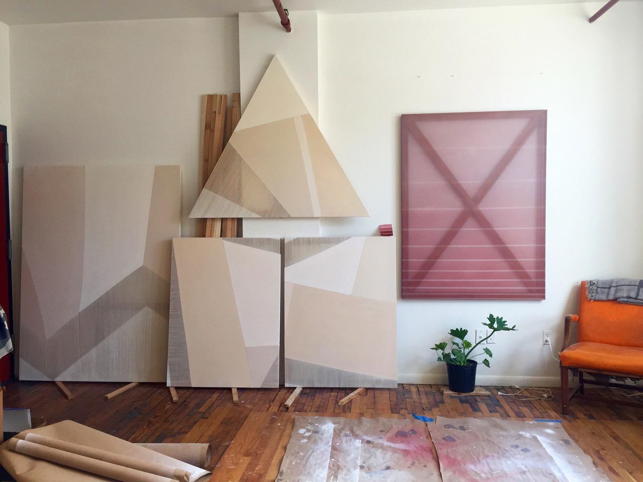 Rebecca Ward's studio