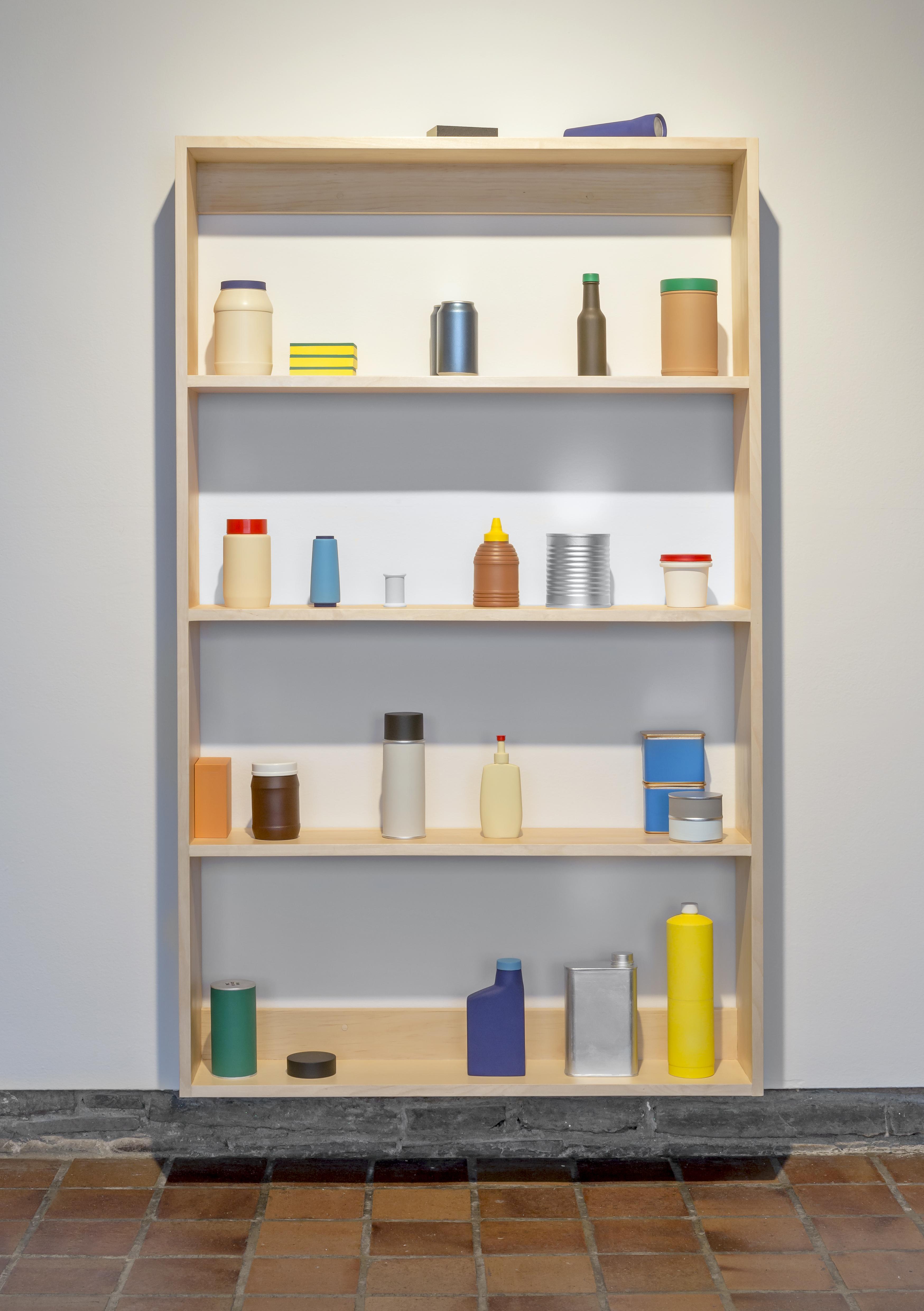 Storage Shelf, 2015 | acrylic on wood and MDF | photo credit: Toni Hafkenscheid