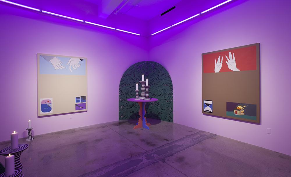Soothsayer, installation view at Steve Turner, Los Angeles. 2016. Image courtesy of Steve Turner, Los Angeles.